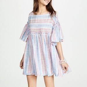 NWT free people blue lagoon striped Dress Top